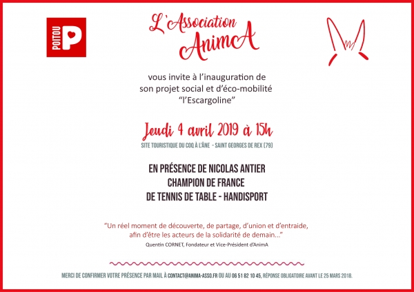 Invitation Inauguration | AnimA©